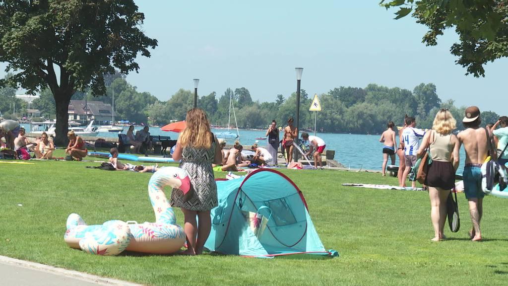 Heisse Tage: Ostschweizer suchen Abkühlung
