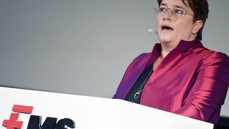 Das Unternehmen von Magdalena Martullo-Blocher hat im ersten Quartal stark unter dem Einbruch in der Autoindustrie gelitten. (Archivbild)