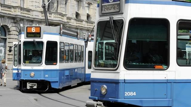 Trams am Zürcher Paradeplatz (Symbolbild)