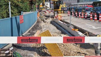 Lücken im Velowegnetz (im Bild eine Baustelle am Postplatz in Olten 2018) sollen einfacher geschlossen werden können