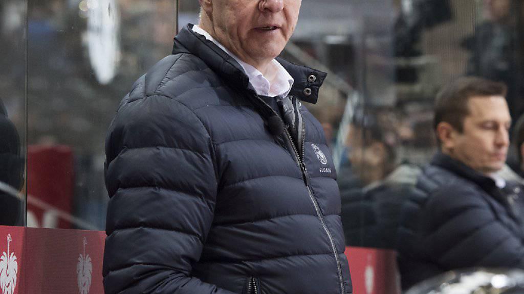 Tritt mit dem SCB heute in Schweden an: Coach Kari Jalonen