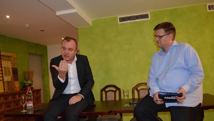 Hansi Voigt (links), seit Januar 2014 Chefredaktor des Online-Nachrichtenportals Watson.