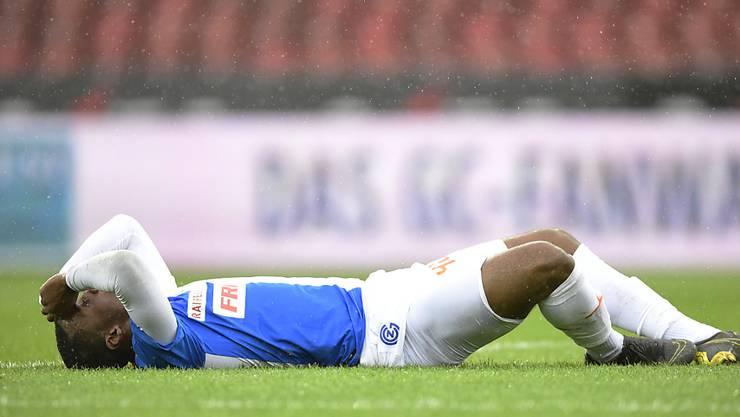 Am Boden: Julien Ngoy ist sich des Ausmasses der Niederlage gegen St. Gallen bewusst