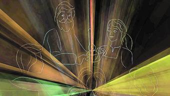 Solche Figuren werden am Event in Wohlen mit Laserstrahlen dargestellt.