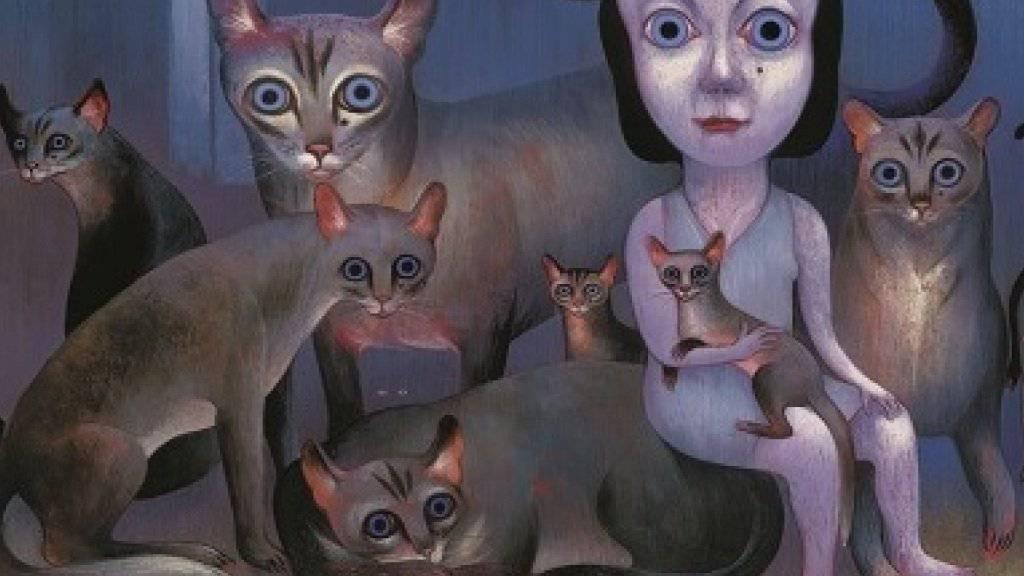 """Illustration aus Ronald Curchods preisgekröntem Buch """"La nuit quand je dors"""" (Bildrechte La nuit quand je dors de Ronald Curchod © Rouergue, 2014)."""