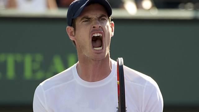 Andy Murray nahm die Hürde Dominic Thiem in drei Sätzen