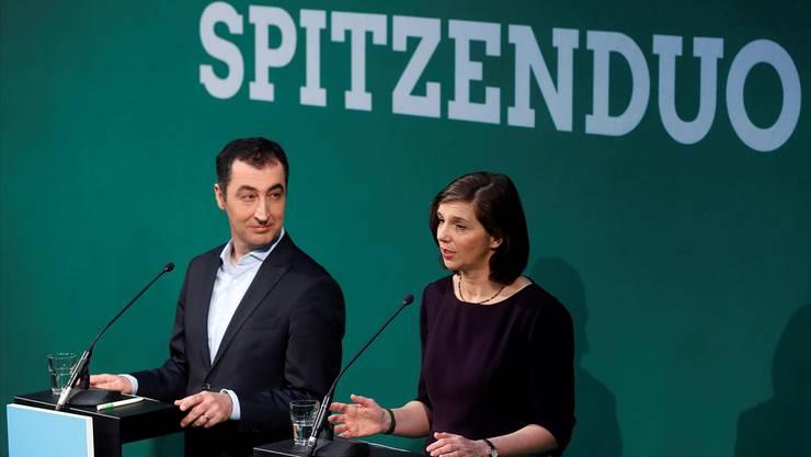 Cem Özdemir und Katrin Göring-Eckhardt führen die die Grünen in den Bundestagswahlkampf. FELIPE TRUEBA/keystone