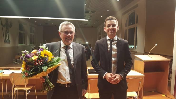 Gemeindeschreiber Heinz Gloor geht nach 25 Jahren in Pension. Es übernimmt der 29-jährige Michael Schätti.