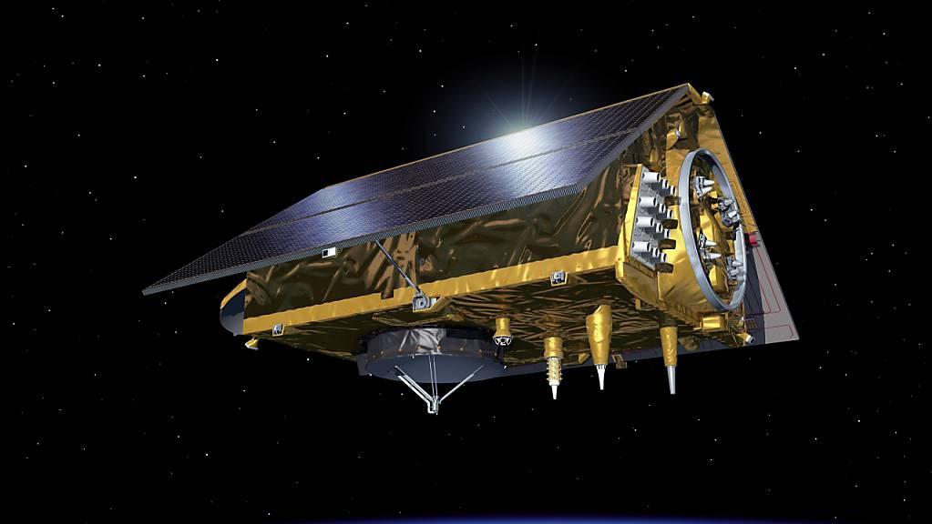 Der Meeresbeobachtungs-Satellit Sentinel 6 hat sich fertig kalibriert und beginnt demnächst, erste Daten zu senden. Er wird mit Hilfe von Satellitenaltimetrie den Anstieg des Meeresspiegels messen und relevante Daten für Klimastudien sammeln (Bild Nasa).