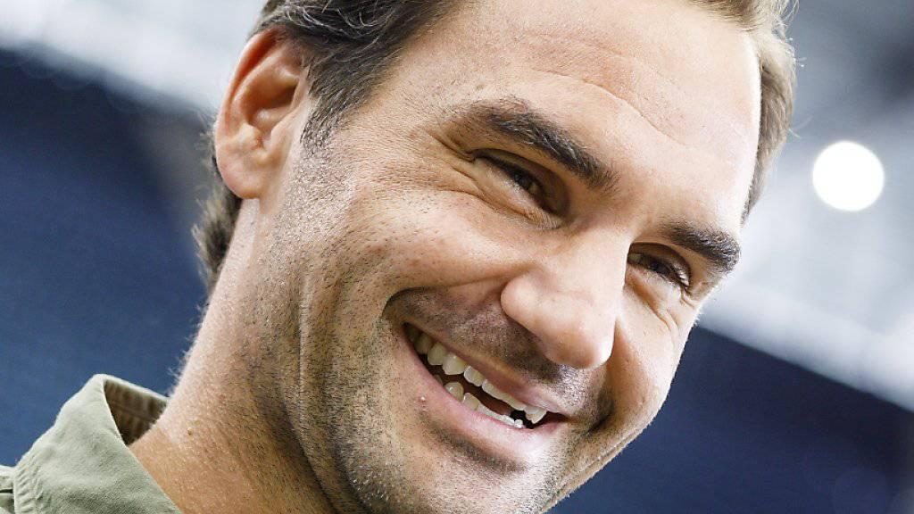 Startet mit einem Nachtmatch ins US Open: Roger Federer