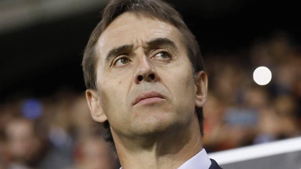 Julen Lopetegui wird nach der WM Trainer von Real Madrid