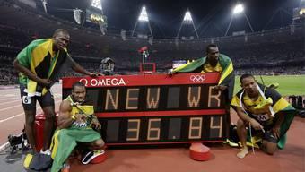 Die 4x100m Staffel der Jamaikaner lief Weltrekord