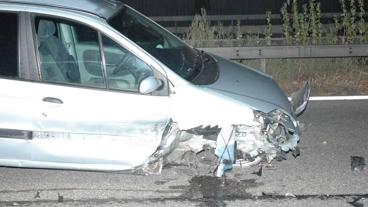 Der Vekehrsunfall bei Flumenthal/A1
