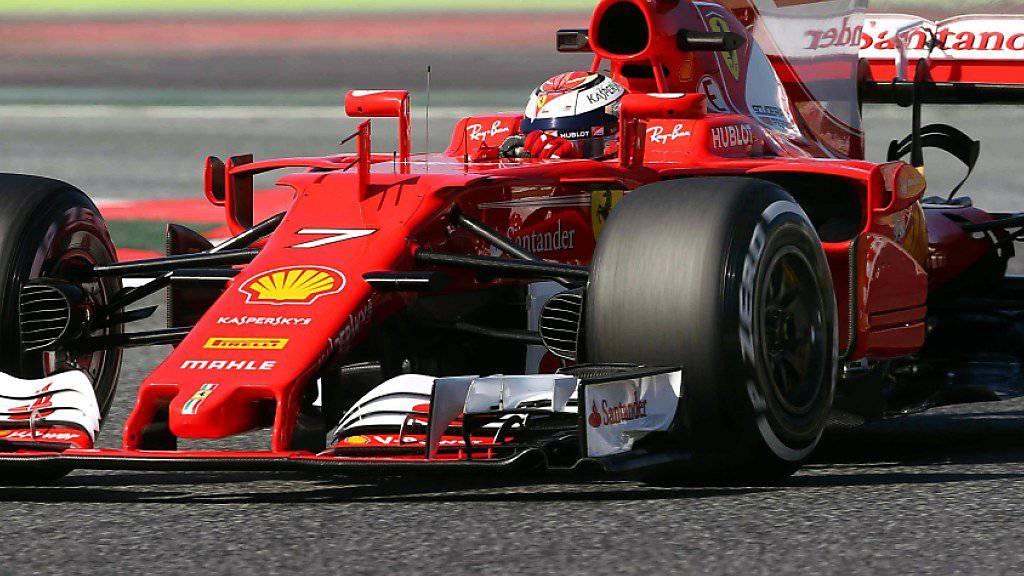 Kimi Räikkönen kurvte mit seinem Ferrari am schnellsten um die Strecke