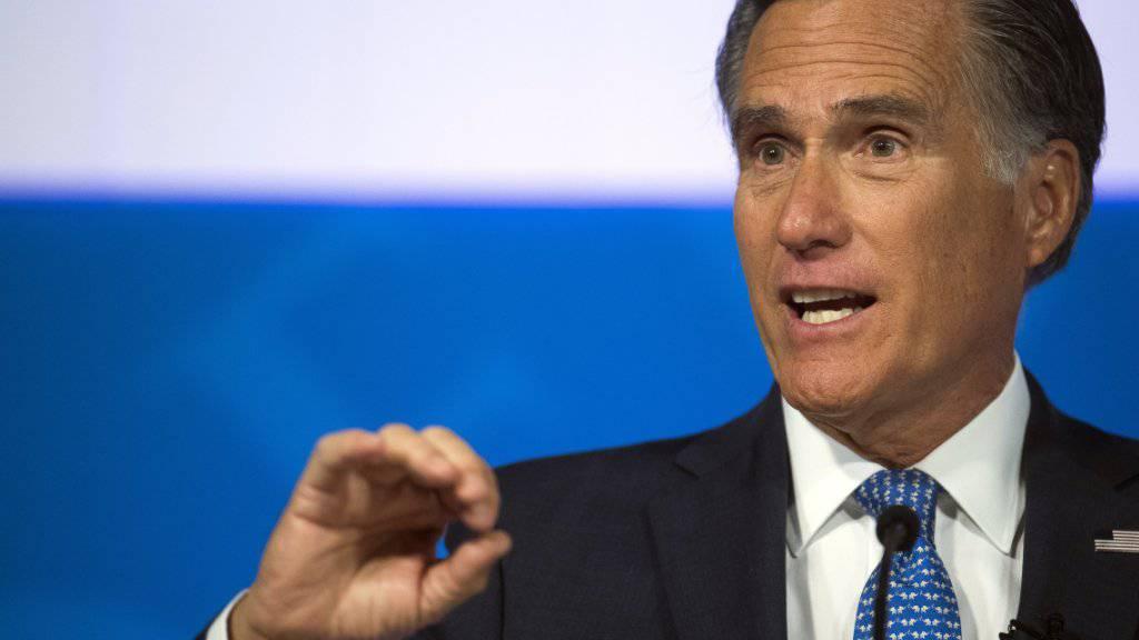 Der frühere Präsidentschaftskandidat Mitt Romney hat US-Präsident Donald Trump scharf kritisiert.