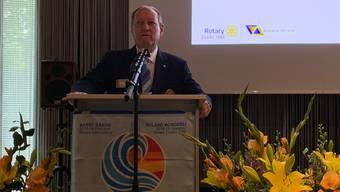 Roland Wunderli zog an der Rotary- Konferenz Fazit aus seinem Amtsjahr.