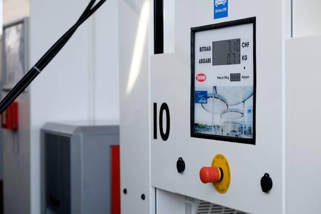 Die Wasserstofftanksäule