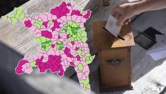 Abstimmungskarte Aargau.