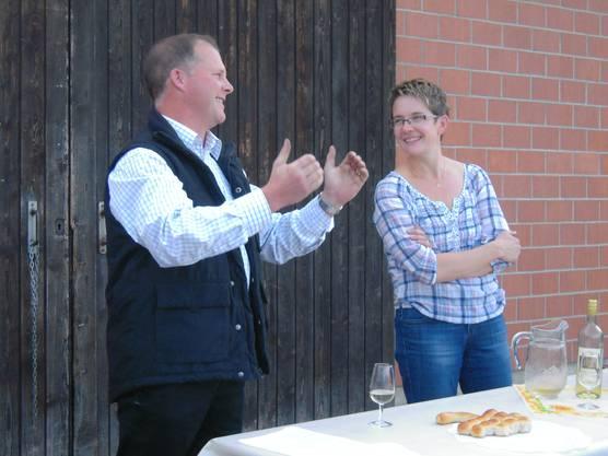 Die Gastgeber Stefan und Brigitte Käser