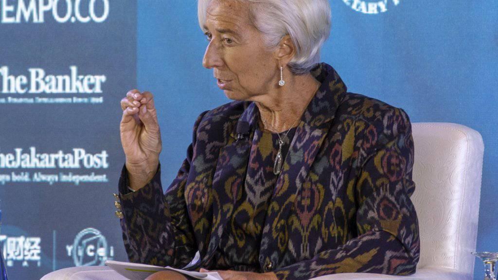Der Internationale Währungsfonds IWF unter der Leitung von Christine Lagarde sieht noch zahlreiche Schwachstellen im weltweiten Finanzsystem.