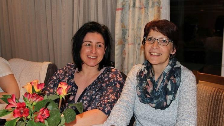 Die neuen Vorstandsmitglieder: Elisabeth Baumgartner (rechts) und Manuela Meier (links).