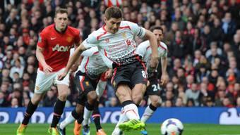 Liverpools Steven Gerrard traf zweimal vom Penaltypunkt aus