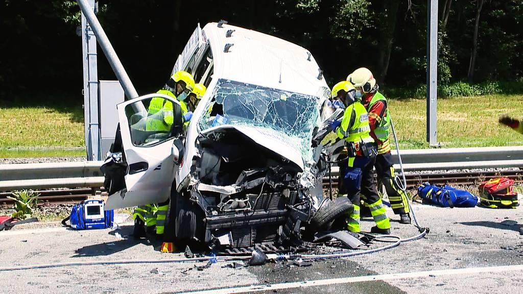 Schwerer Unfall in Frauenfeld: Zwei Verletzte