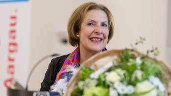 Christine Egerszegi strahlend bei der Verabschiedung in Wohlen.Sandra Ardizzone