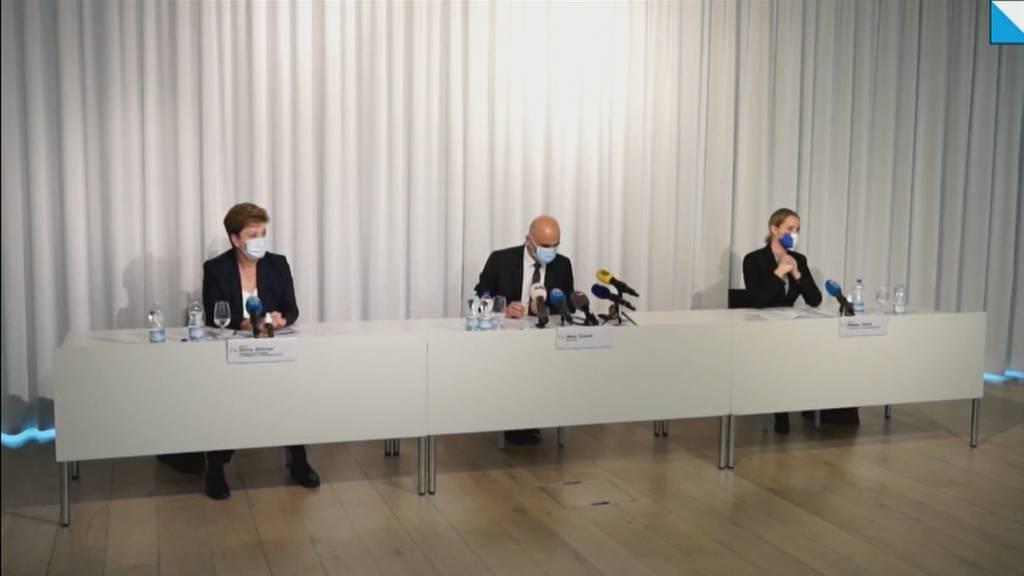 Bundesrat Berset besucht Tracing-Center am Flughafen Zürich