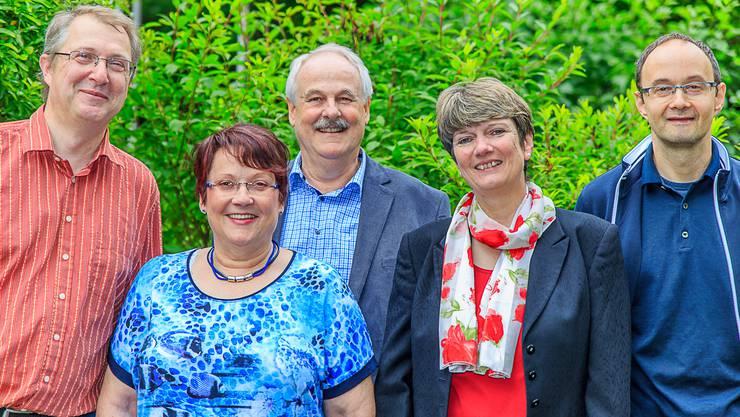 Von links: Bernard und Ursula Schafer, Mönthal Heinz Rohr, Gemeinderat Lupfig Judith Dubois, Brugg Christian Tischmeyer, Hausen (es fehlt Gerda Deubellbeiss Brugg)