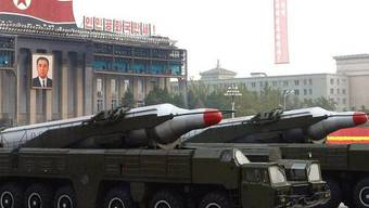 Militärparade in Nordkorea (Archiv)