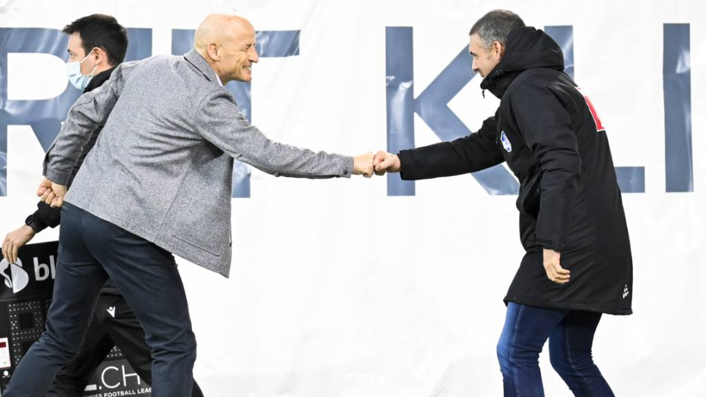 Vielleicht treffen sie im Cupfinal aufeinander - vorerst spielen Peter Zeidler (links) und Fabio Celestini mit ihren Teams in erster Linie gegen den Abstieg aus der Super League