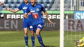 Pascal Schürpf und Shkelqim Demhasaj schossen die Luzerner Tore beim Heimsieg gegen Lugano