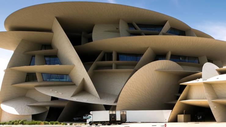Das neue Nationalmuseum des Emirats Katar, ein spektakuläres Bauwerk, entworfen vom französischen Stararchitekten Jean Nouvel.