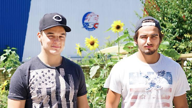 Chris (links) und Phil Baltisberger (nahe der Kunsteisbahn Oerlikon) freuen sich, wieder im selben Team zu sein.