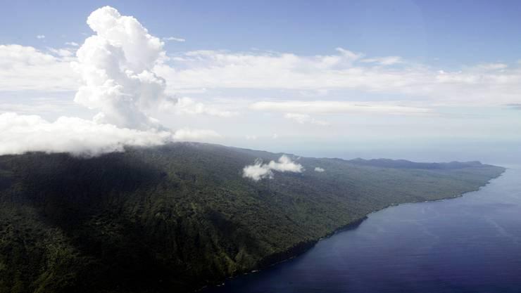 Vanuatu, Im Bild der Vulkan Mount Manaro auf der Ambae-Insel