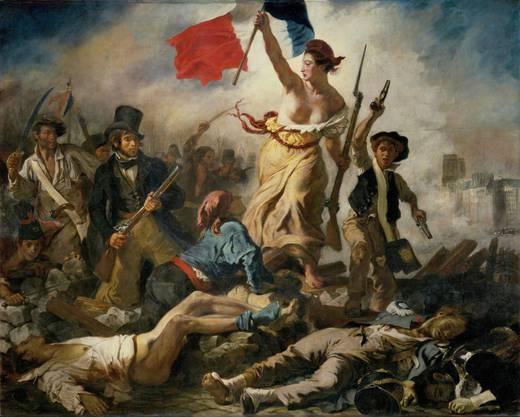 Eugène Delacroix: La liberté guidant le peuple. 1830. Oil on canvas, 260 x 325 cm. Bild: Musée du Louvre