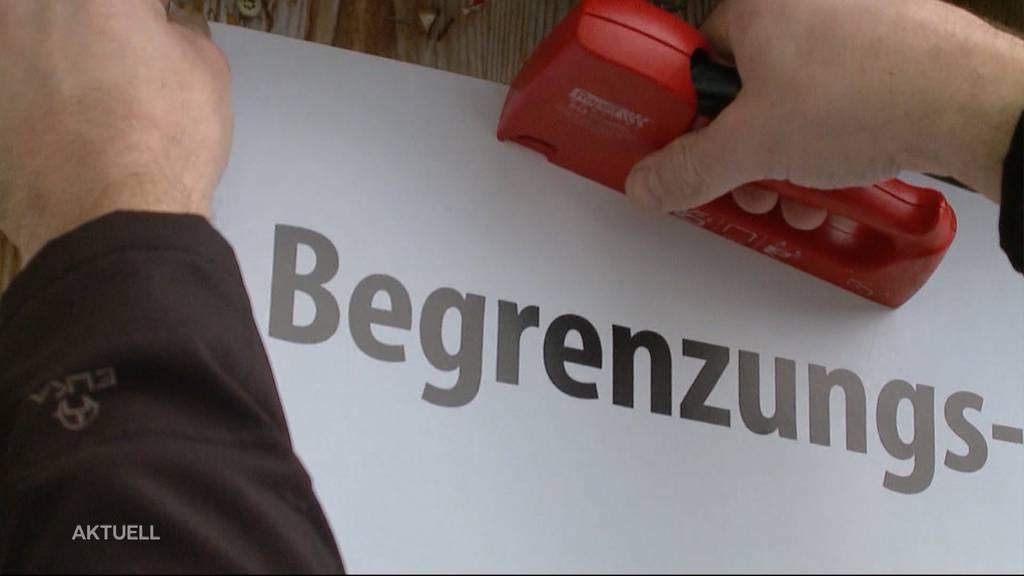 Nordwestschweizer Kantone kämpfen zusammen gegen die Begrenzungsinitiative