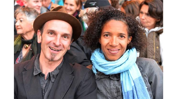 Schauspielerin Sandra Moser sass zusammen mit ihrem Partner Stefan in der ersten Reihe.