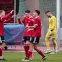 Die Spieler des SV Muttenz durften gegen Buochs vier Mal einen Treffer bejubeln.
