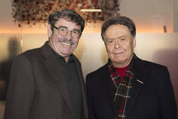 Apotheker Max Brentano (links) und Bildungspolitiker Hans Zbinden.