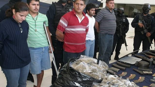 Festgenommene Mitglieder des geschwächten Kartells La Familia Michoacana (Archiv)