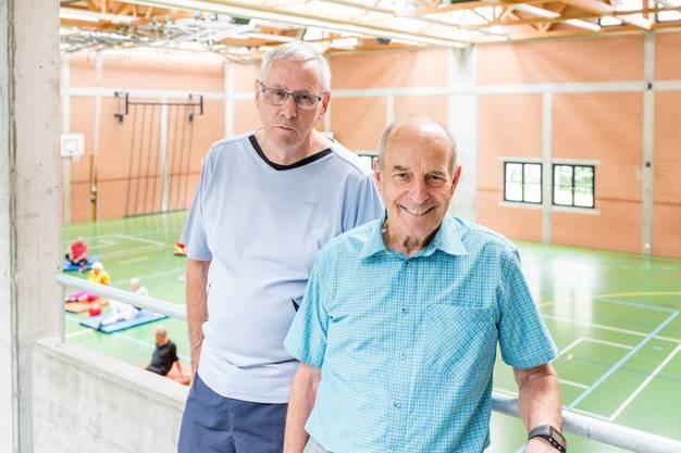 """Für Präsident Werner Leutwyler (l.) und Vize-Präsident Ernst Meier hat der Verein auch eine soziale Verantwortung: """"Gesellschaft und Kameradschaft machen die Hälfte vom Ganzen aus."""""""