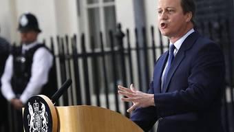 David Cameron bei einer Rede nach seinem offiziellen Rücktritt als Premierminister - nun gibt er auch seinen Parlamentssitz auf.