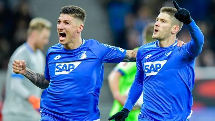 Gleich von fünf Spielern trennte sich Hoffenheim – auch der Schweizer Steven Zuber (links) wurde ausgeliehen.