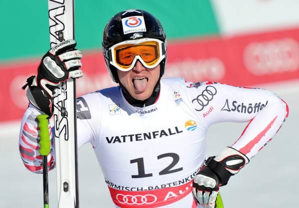 Hannes Reichelt gewinnt Silber.
