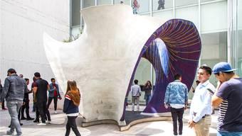 Innen gestrickt, aussen betoniert: Das Schlusswerk der Zürcher steht nun an einer Architekturausstellung in Mexiko City. ETH Zürich