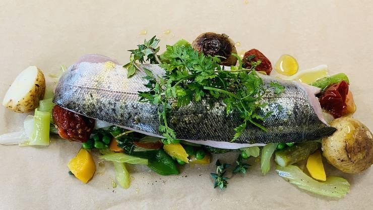 Einmal Fisch aus Villiger Küche zum Mitnehmen.