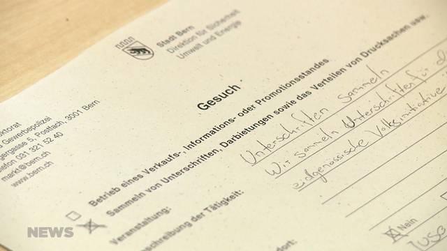 Kampf gegen Berner Regel zur Unterschriftssammlung