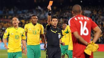 Auftritt auf der grossen Bühne: Massimo Busacca war der letzte Schweizer Schiedsrichter, der an der WM in Südafrika 2010 eine Partie leitete.